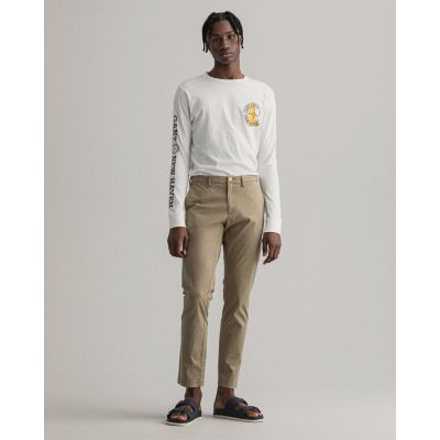 Hallden Slim Fit Sunfaded Chinos