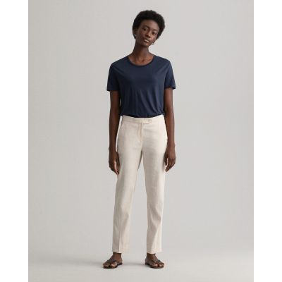 D2. STRETCH LINEN TAPERED PANTS