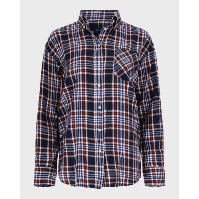 Relaxed Fit Check Flannel Shirt