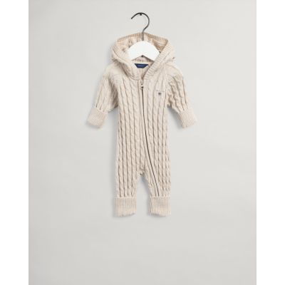 Baby Cotton Cable Zip Coverall