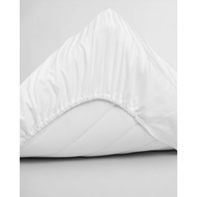SATEEN DOUBLE FITTED SHEET
