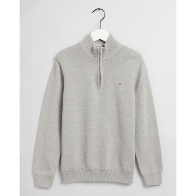 Teen Boys Casual Cotton Half Zip Sweater