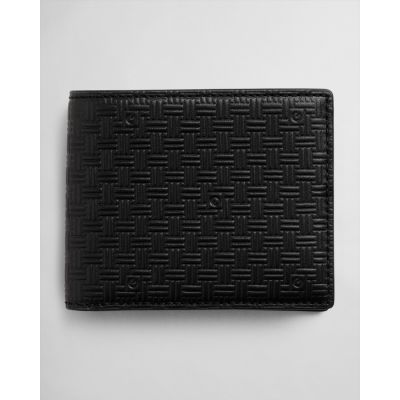 LEATHER SIGNATURE WEAVE WALLET