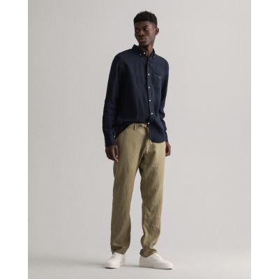 Relaxed Linen Drawstring Pants