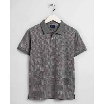 Mini Jacquard Pique Polo Shirt